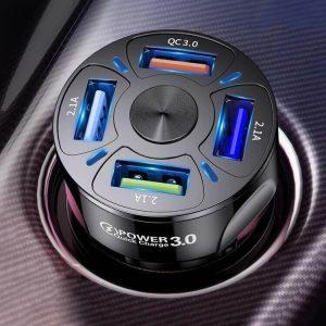 Автомобильная зарядка для телефона Uslion 4 порта с Алиэкспресс