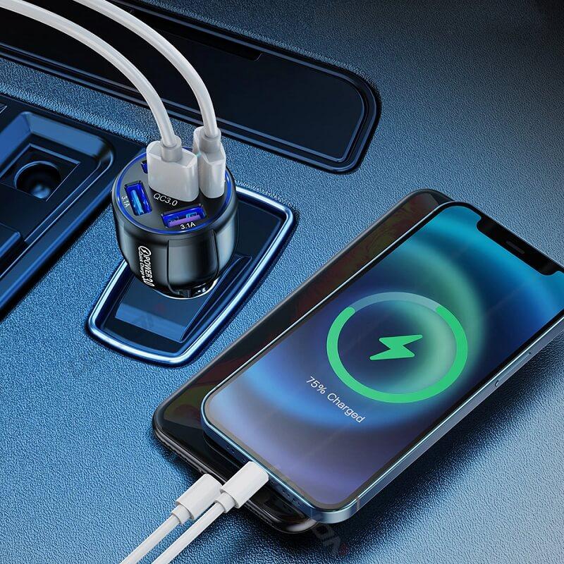 Автомобильная зарядка для телефона Uslion 5 портов с Алиэкспресс