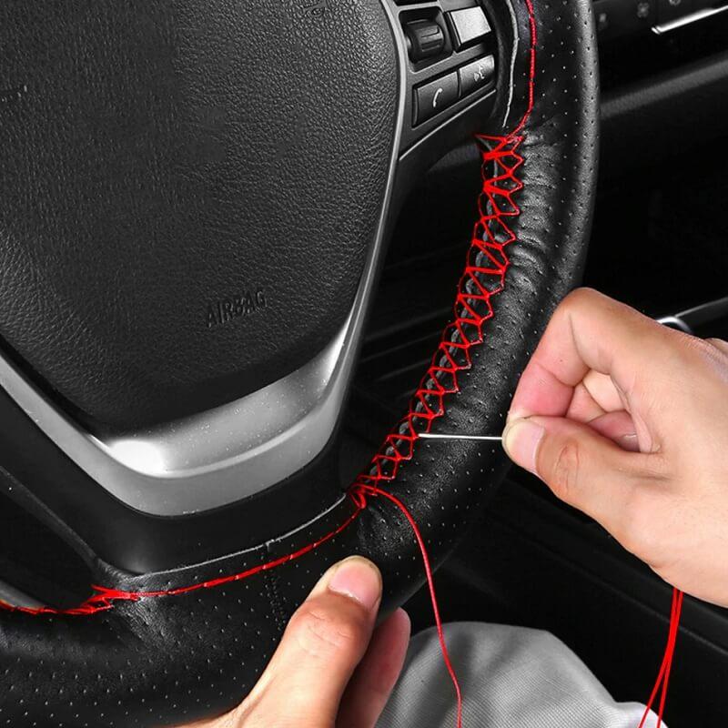 Кожаная оплетка на руль Auto Manager с Алиэкспресс