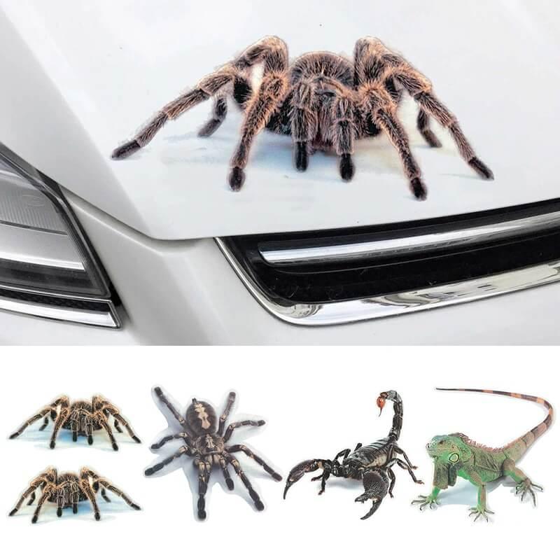 Наклейка на автомобиль 3D-животное с Алиэкспресс