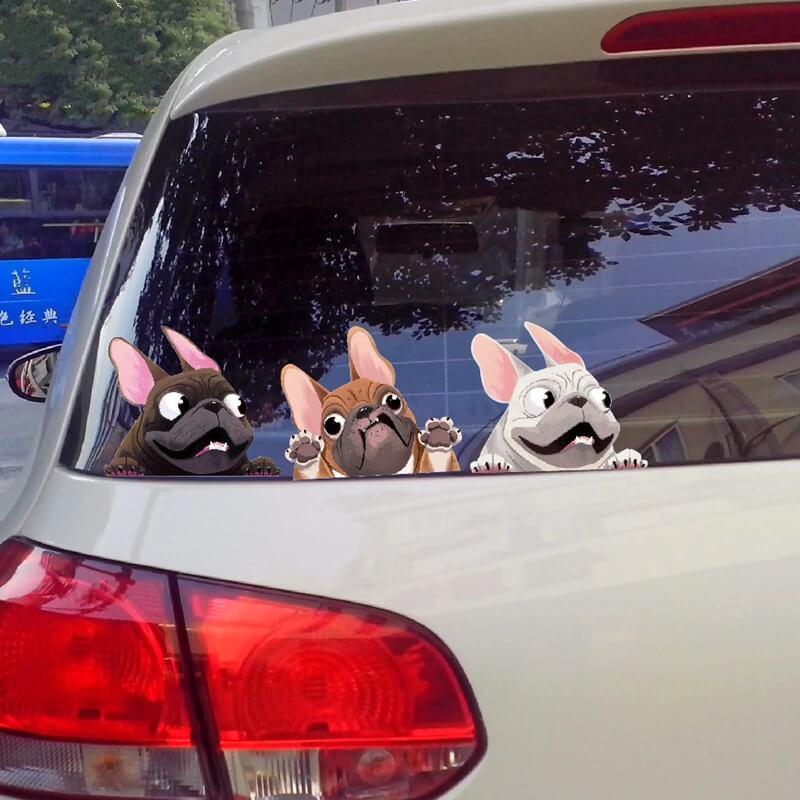 Наклейка на автомобиль Бульдог с Алиэкспресс