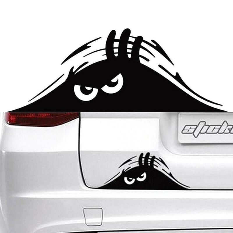 Наклейка на автомобиль Глаза с Алиэкспресс