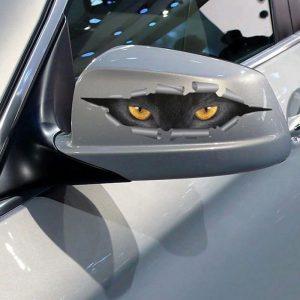 Наклейка на автомобиль Кошачьи глаза с Алиэкспресс