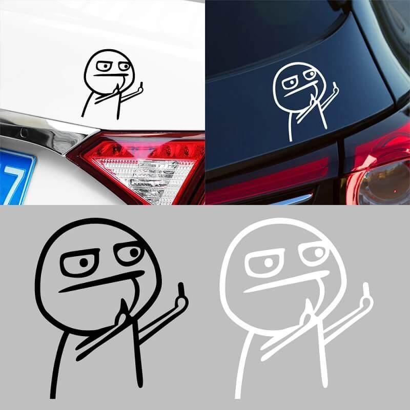Наклейка на автомобиль Средний палец с Алиэкспресс