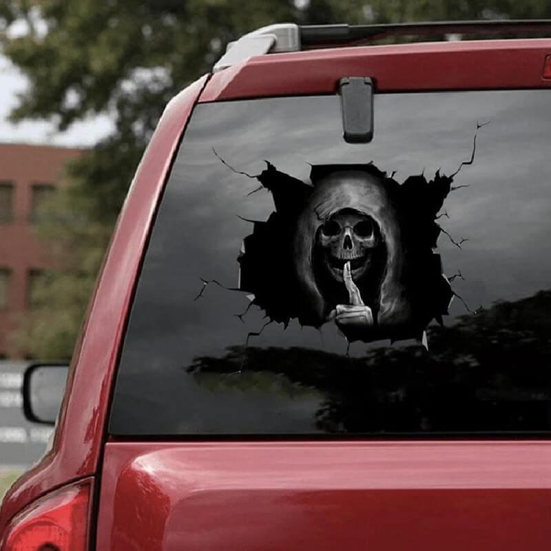 Наклейка на автомобиль Тихий череп с Алиэкспресс