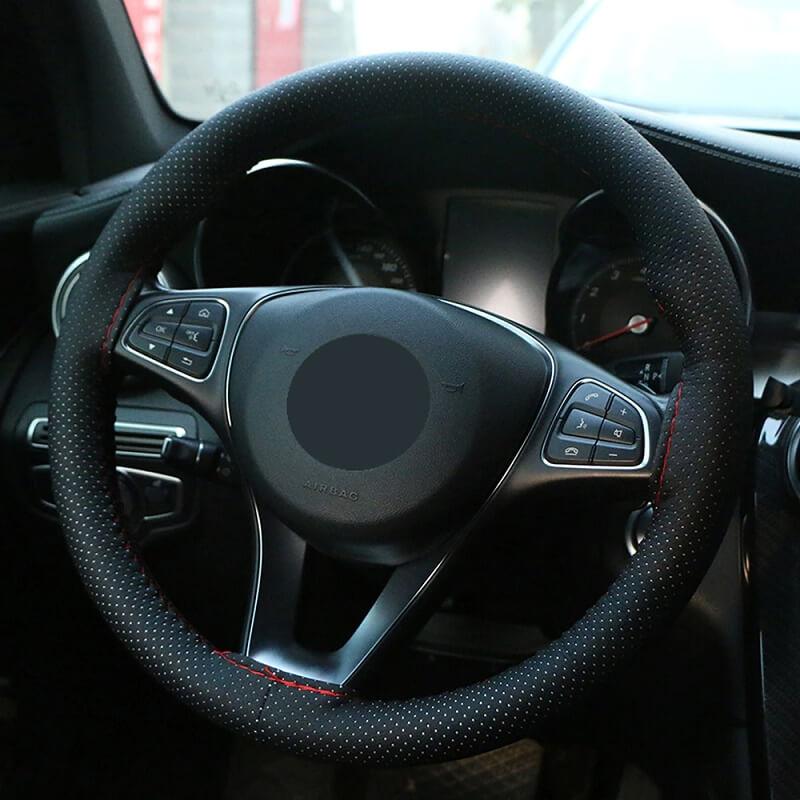 Оплетка на руль из кожзама O Shi Car с Алиэкспресс