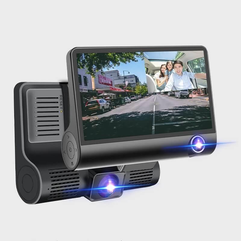Видеорегистратор с тремя камерами E-ACE с Алиэкспресс